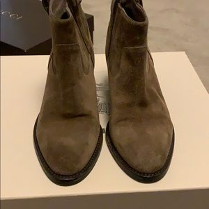 Burberry Suede Taupe Brown Bootie Size 7.5